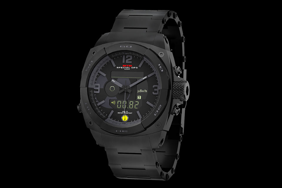 Часы со счетчиком  Гейгера-Мюллера MTM Black RAD Tactical Watch