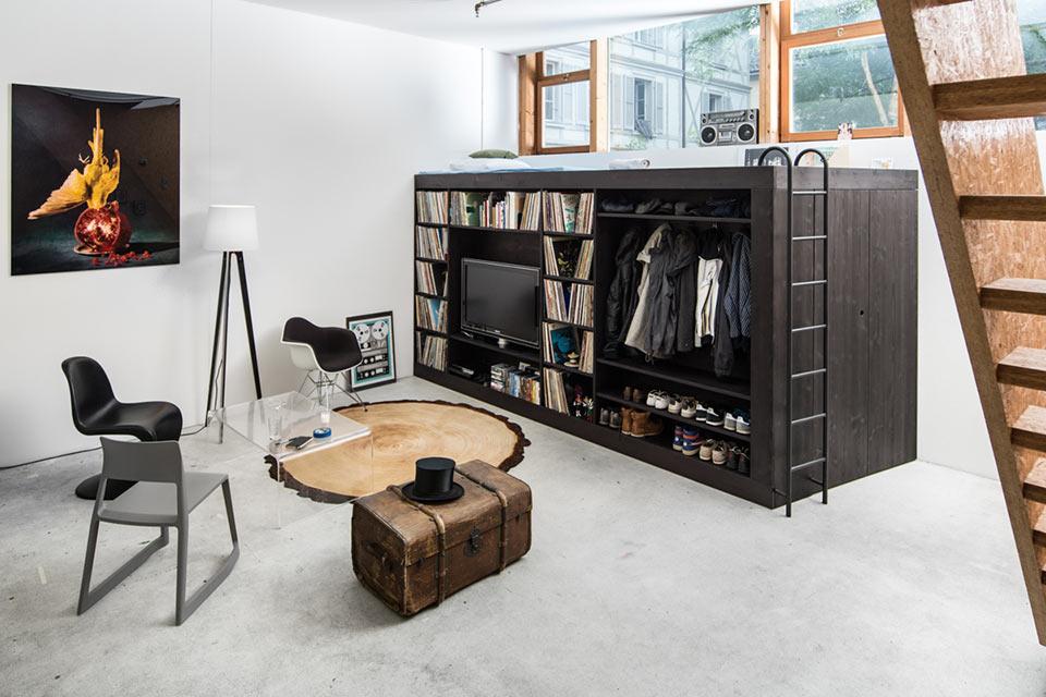 Шкаф-кровать-кладовка The Living Cube