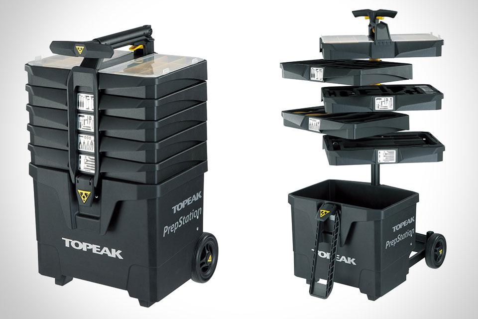 Мегаящик-тележка с инструментами Topeak PrepStation