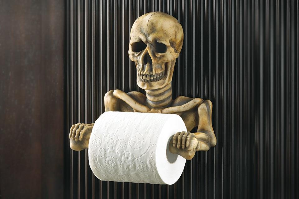 Держатель туалетной бумаге в виде скелета Skeleton Toilet Paper Holder