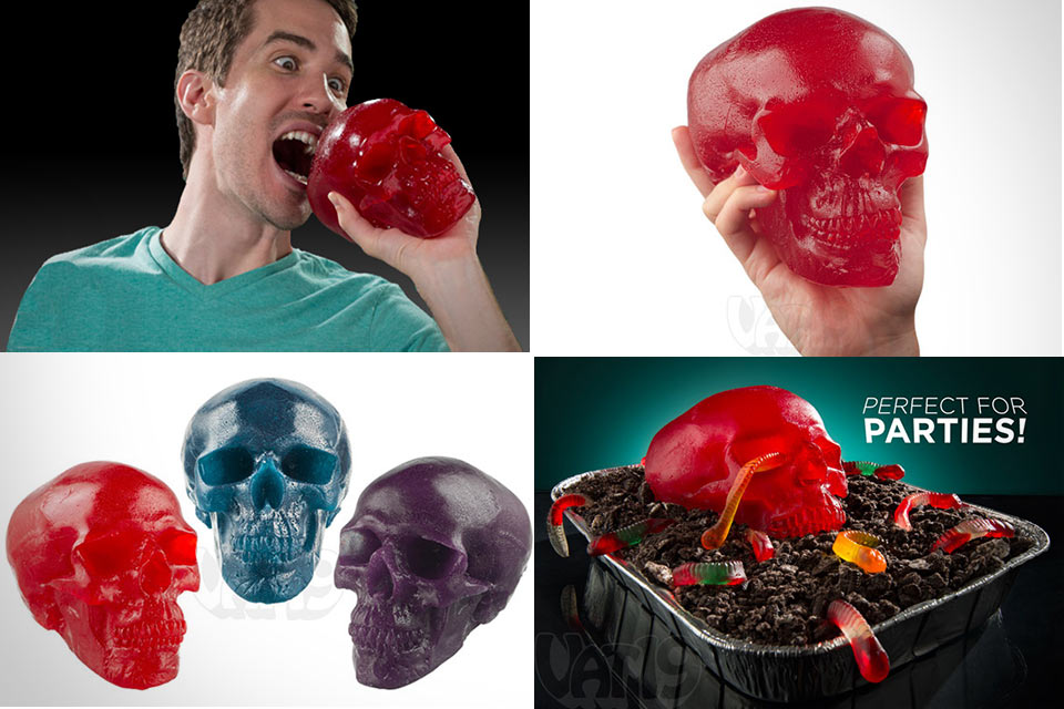 2-киллограммовый череп из жевательного мармелада Gummy Skull