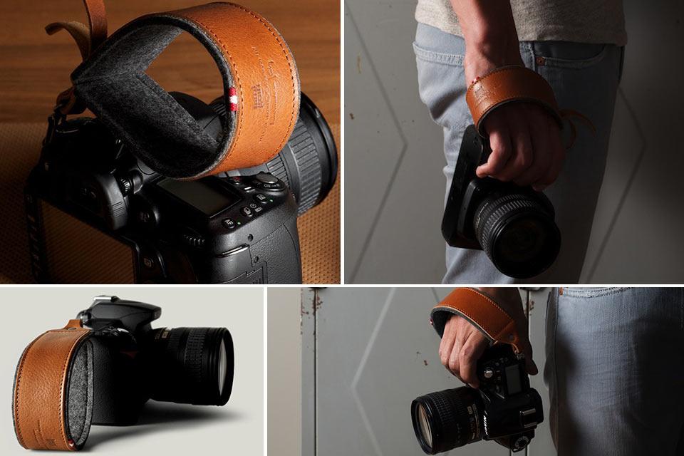 Наладонный ремень из кожи и войлока Hard Graft Hold Camera Handle для фотокамеры