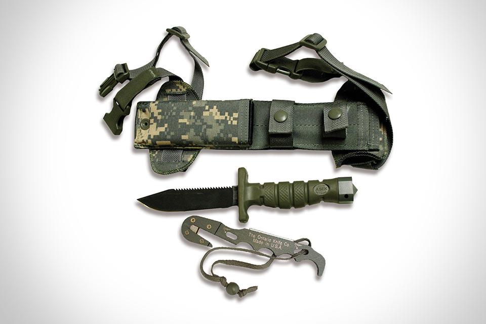 Система для выживания Ontario ASEK на основе ножа