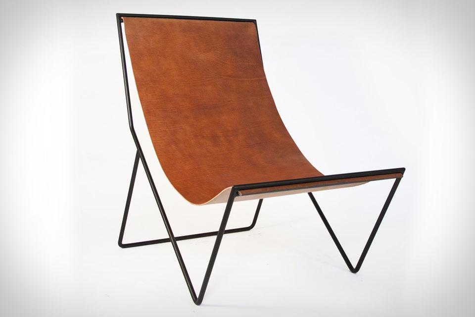 Минималистичный кожаный стул Sit & Read