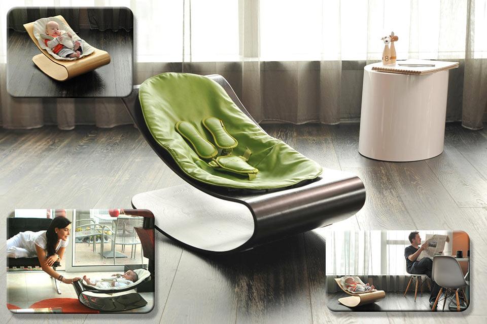 Крутое кресло-люлька для малыша Bloom Coco Stylewood