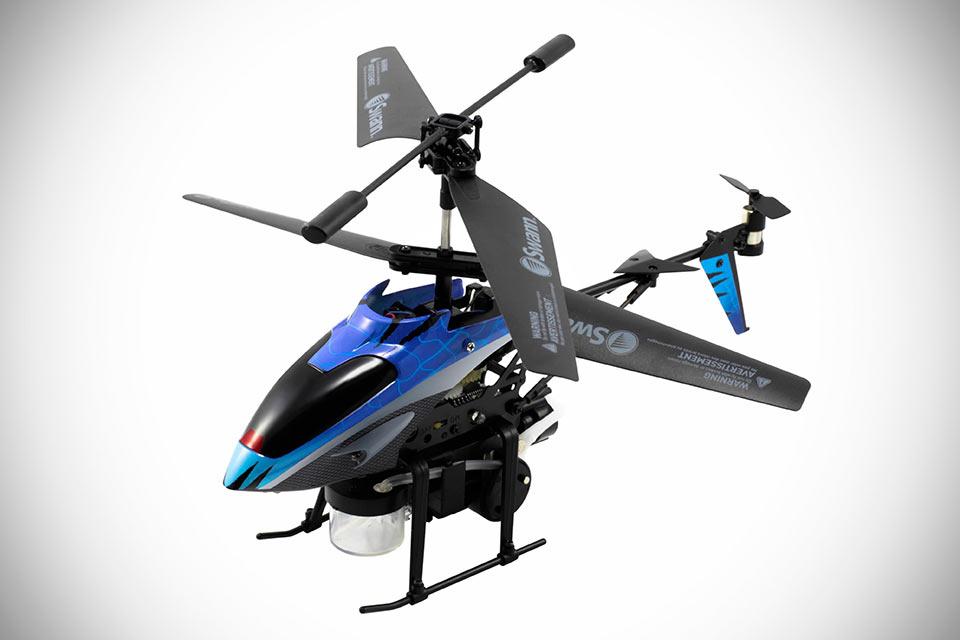 Радиоуправляемый вертолет Swann Bubble Bomber с мыльными бомбами