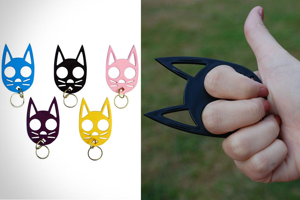 Скрытый тычковый нож Cat Ears Self Defense Keychain