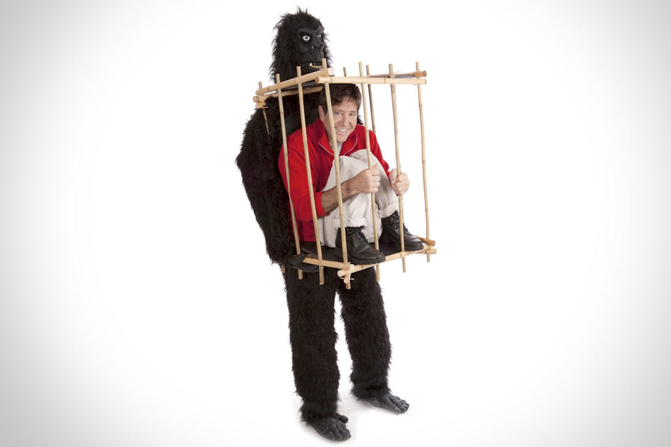 Костюм для Хэллоуина «Горилла и человек в клетке»