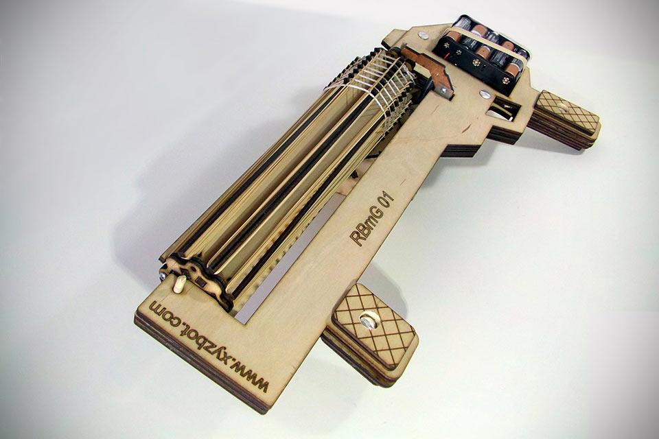Стреляющий денежными резинками пулемет Rubber Band Machine Gun