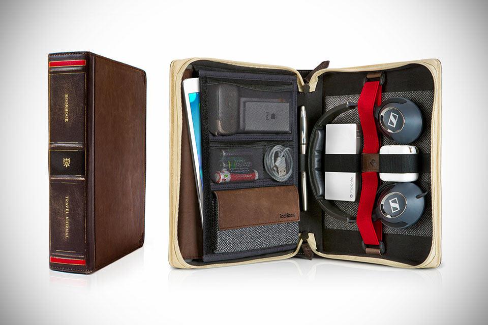 Кожаный органайзер BookBook Travel Journal для  мелкой электроники