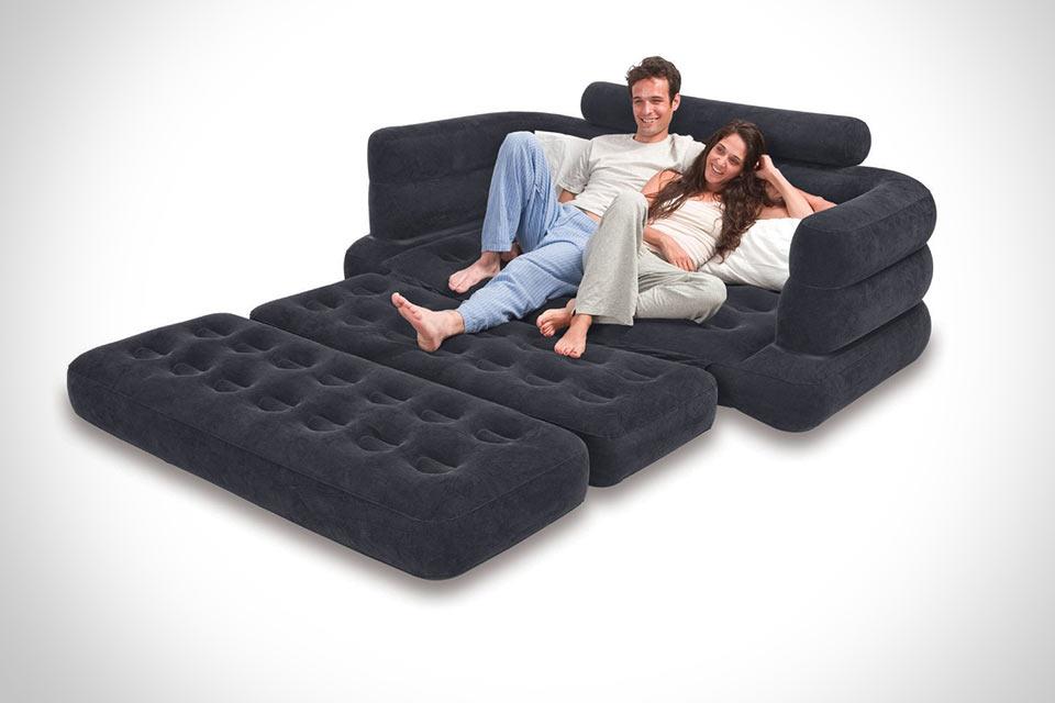 Раскладной надувной диван Intex Pull-out Sofa Queen