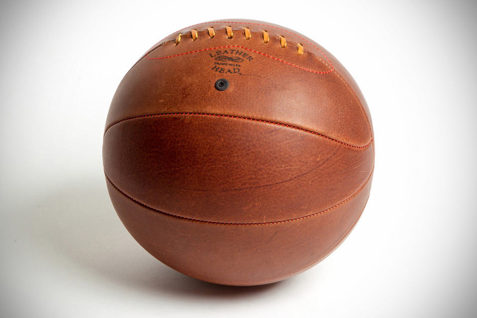 Кожаный баскетбольный мяч Leather Head Naismith Style Lace Up