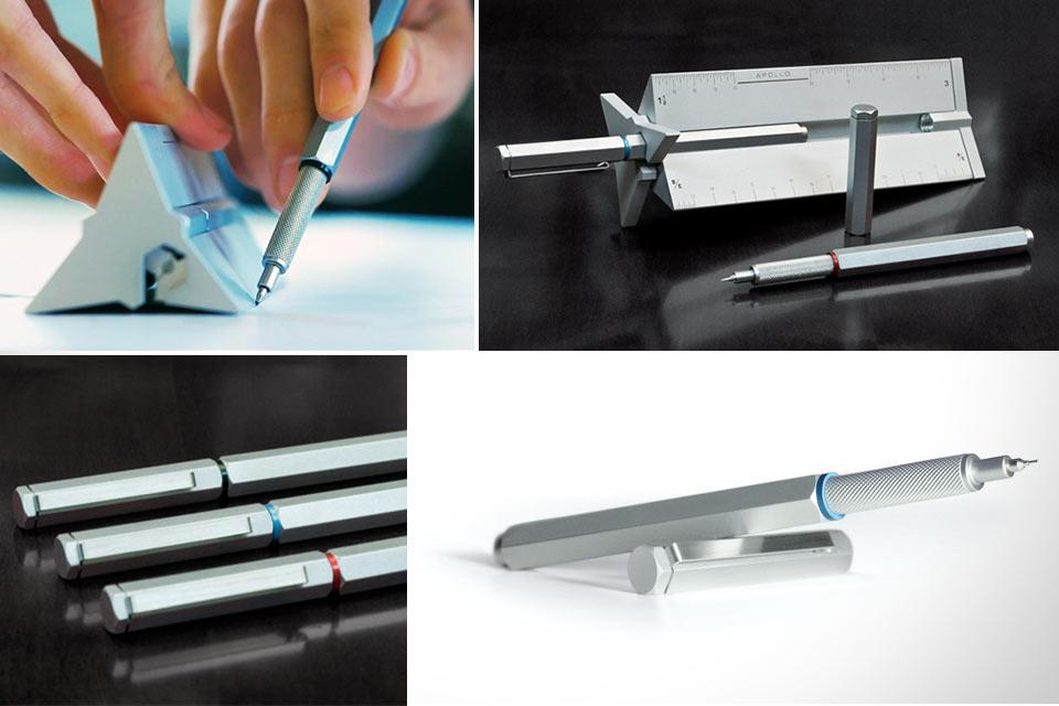 Техническая ручка из титана и стали The Apollo