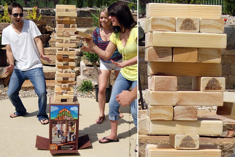 Напольная игра «Башня» для взрослых Backyard Block Party