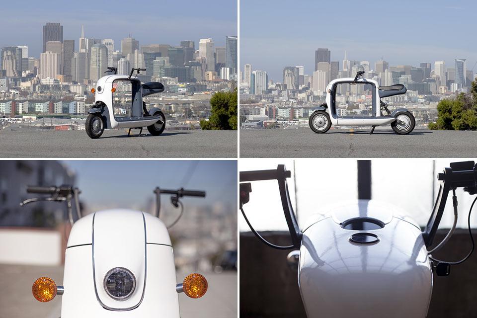 Электроскутер Cubo с вместительным багажником