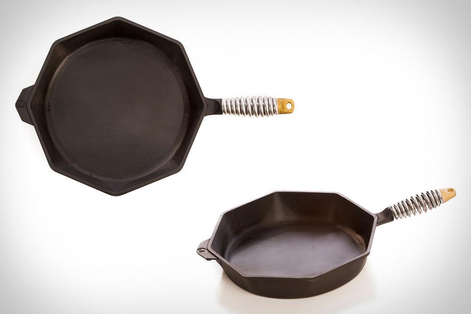 8-угольная чугунная сковорода Finex