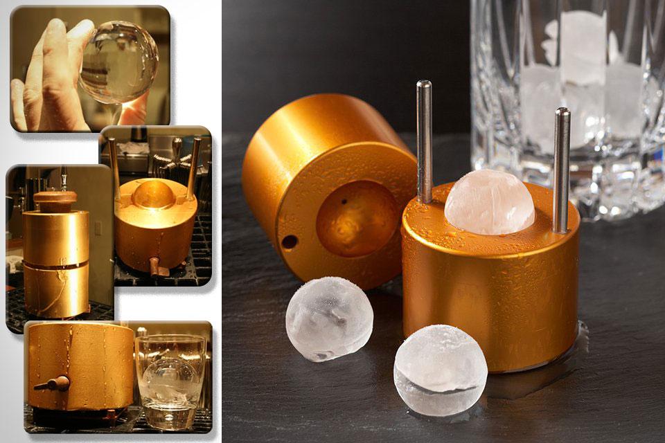 Металлическая форма Ice Ball Mould для создания ледяных шариков