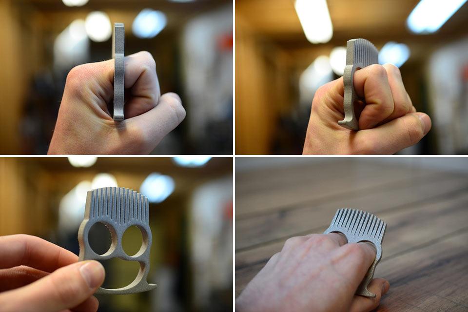 Кастет-расческа для бороды Knuckle Duster