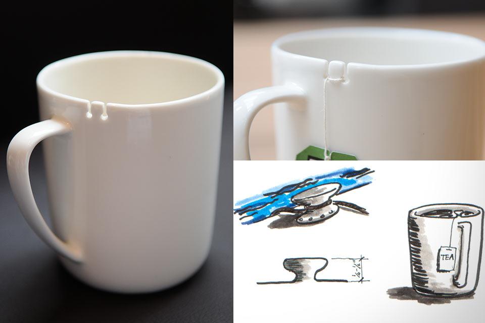 Чашка Le Mouton Noir & Co Tie с держателем для чайного пакетика