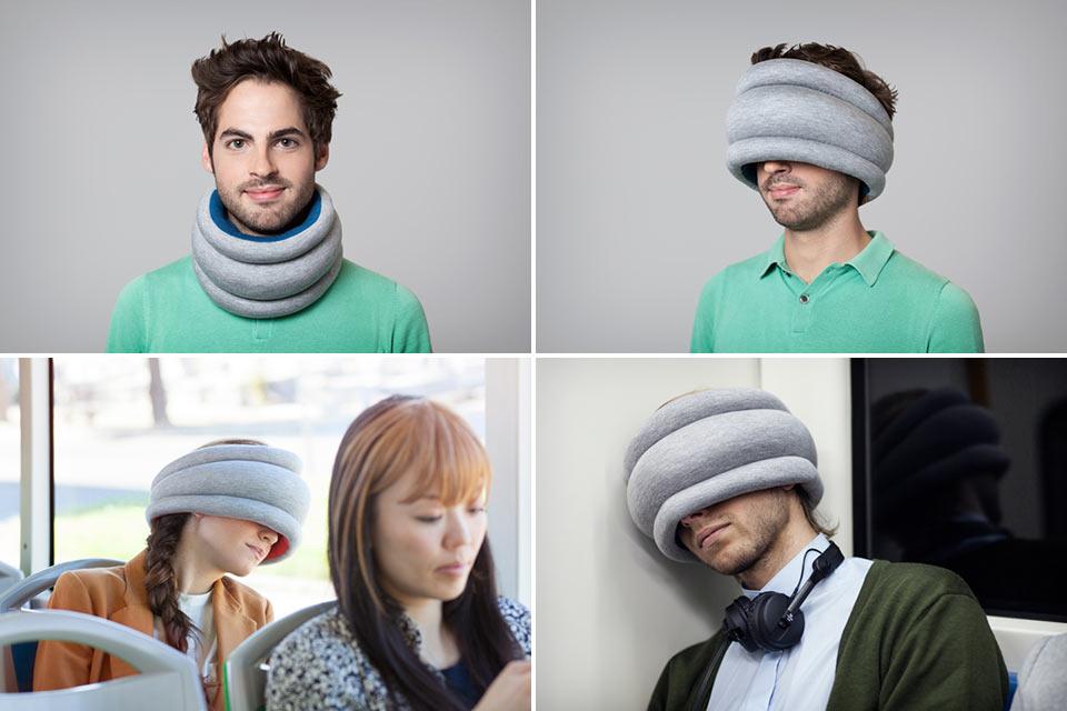 Компактная дорожная подушка Ostrich Pillow Light