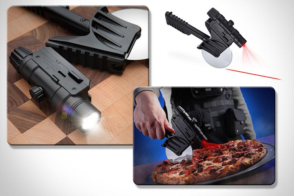 Тактический нож с лазерным прицелом для пиццы