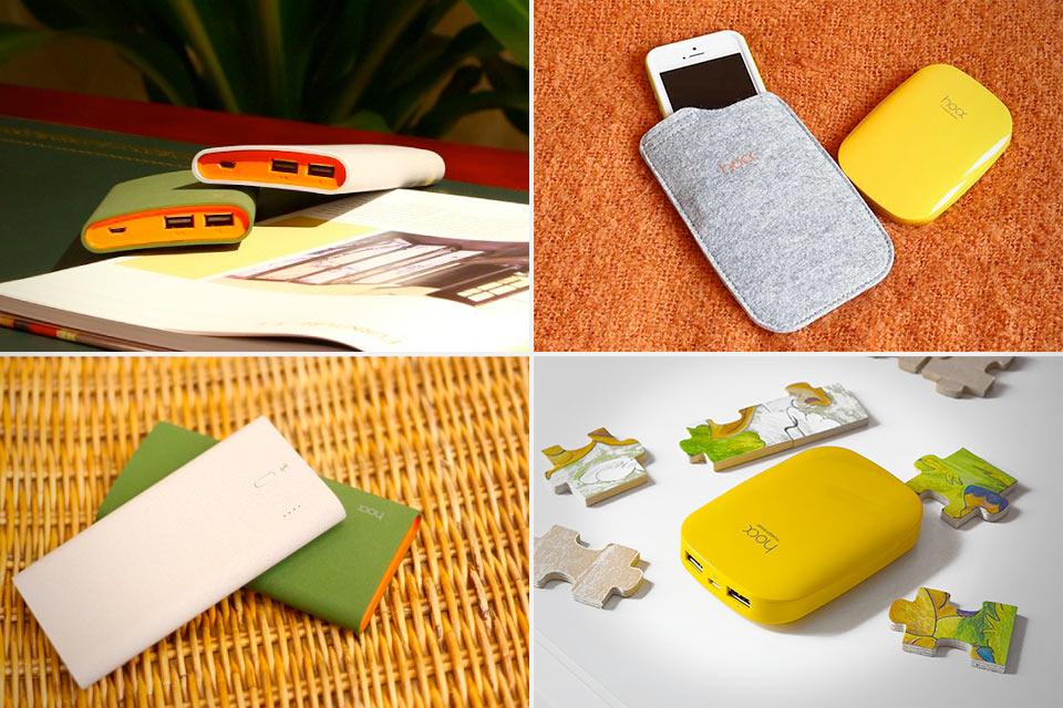 Симпатичные портативные аккумуляторы Hoox