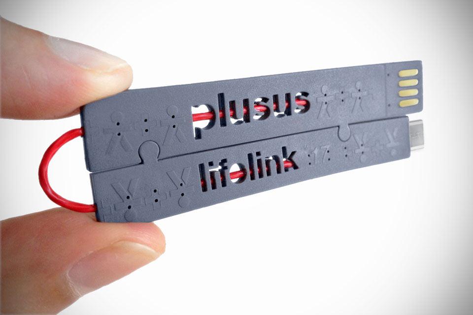 Плоский и складной кабель LifeLink для подзарядки гаджетов