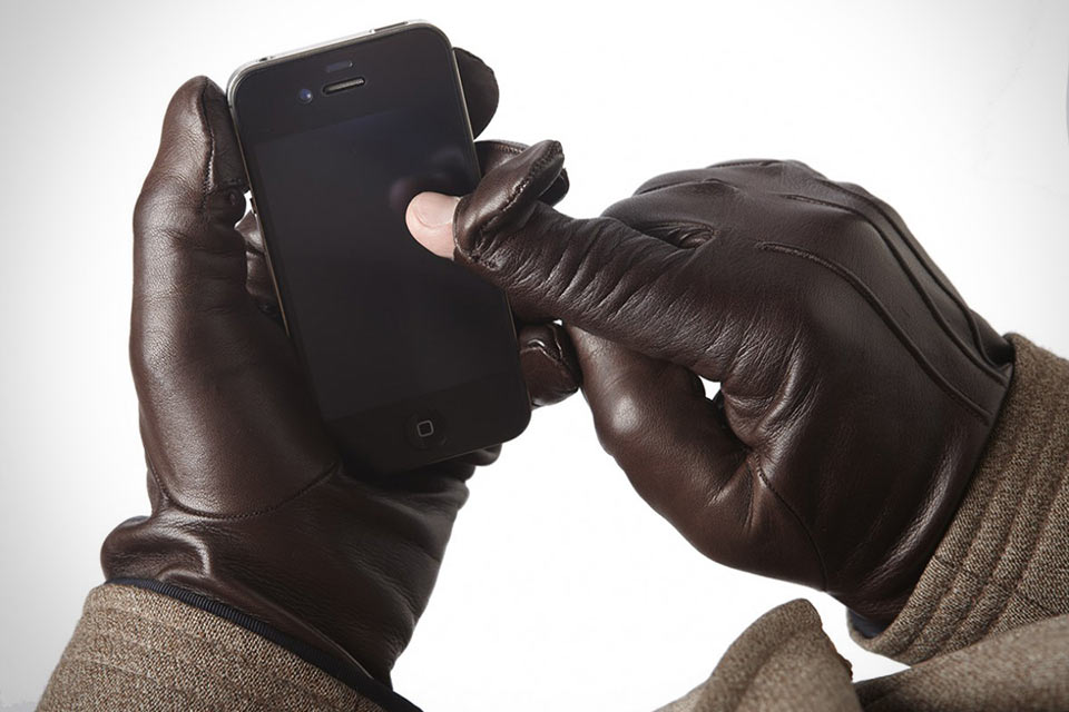 Зимние кожаные перчатки Pengallan с поддержкой сенсорных устройств