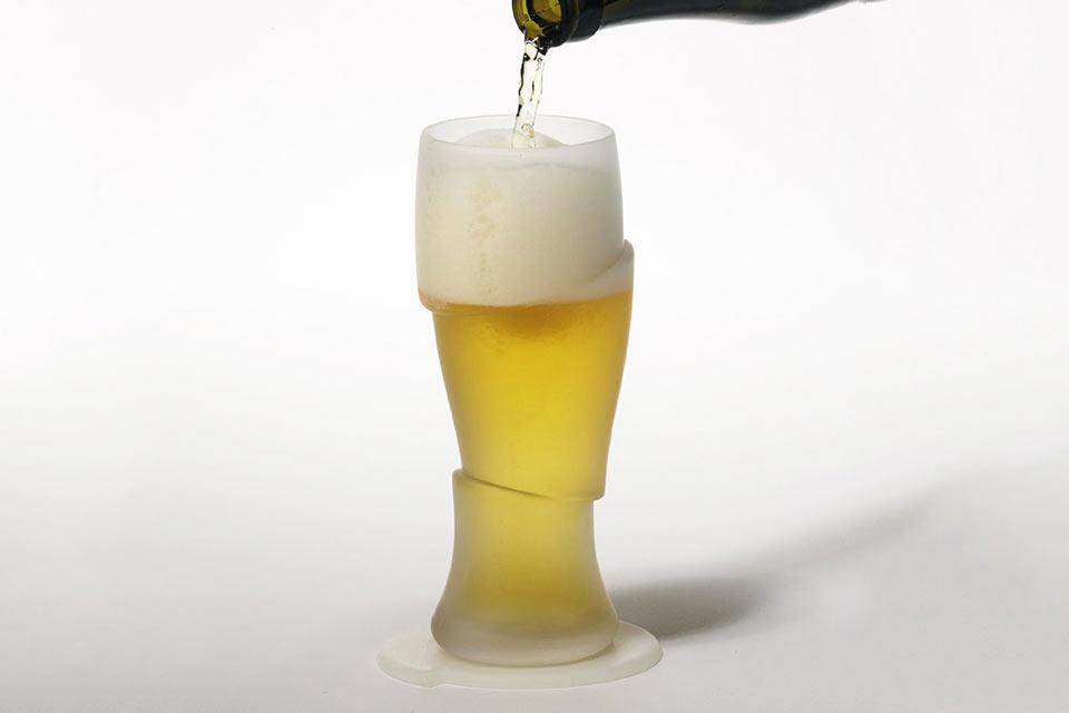 Сюрреалистичный пивной бокал Sliced