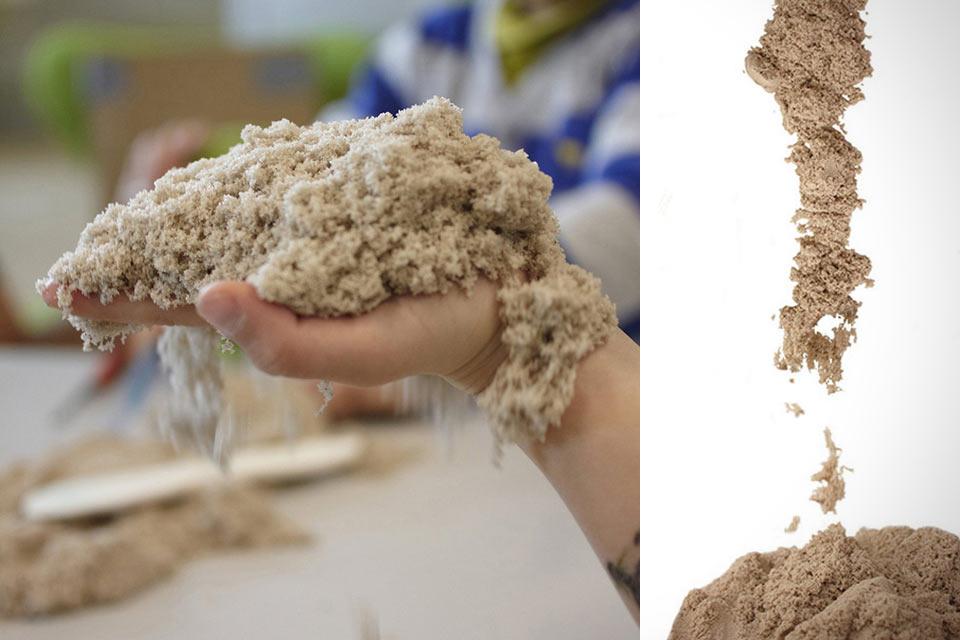 Кинетический песок Smart Mass Kinetic Sand с эффектом пластилина