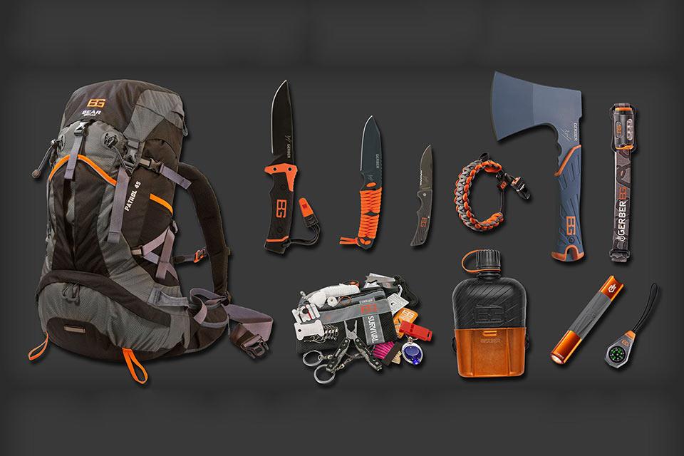 Большой набор для выживания Bear Grylls Mountain Pack