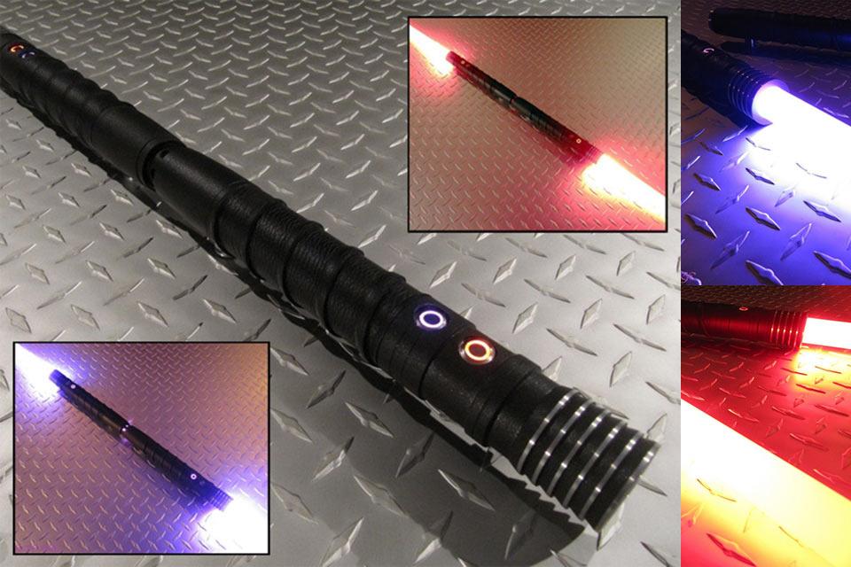 Двухклинковый световой меч Decimator