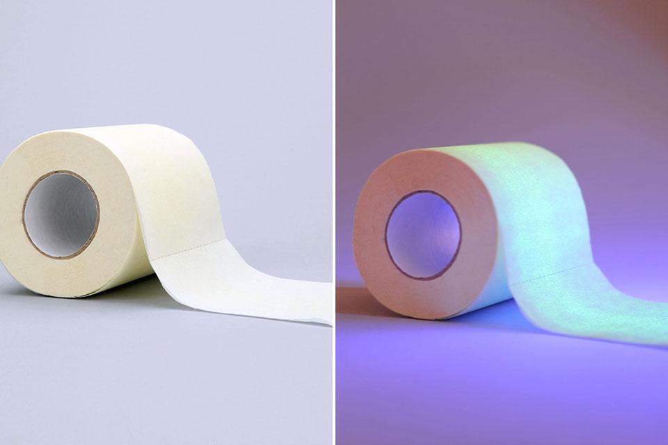 Светящаяся в темноте туалетная бумага Glow-In-The-Dark