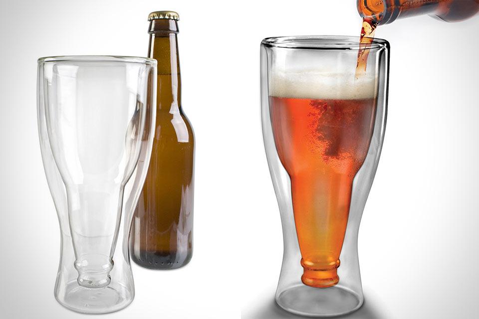 Пивной бокал Hopside Down в форме перевернутой бутылки