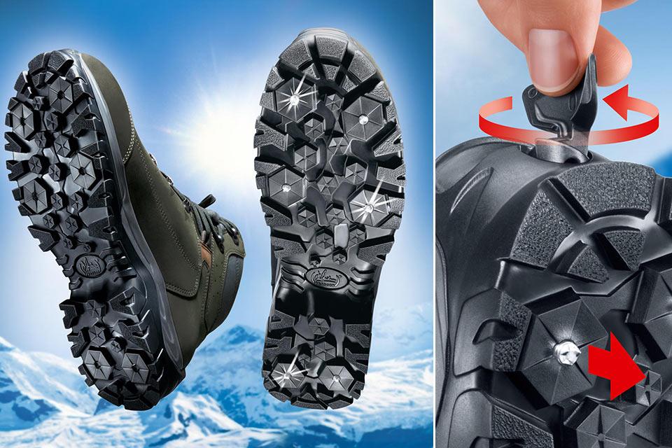 Зимние ботинки Meindl с выдвижными шипами