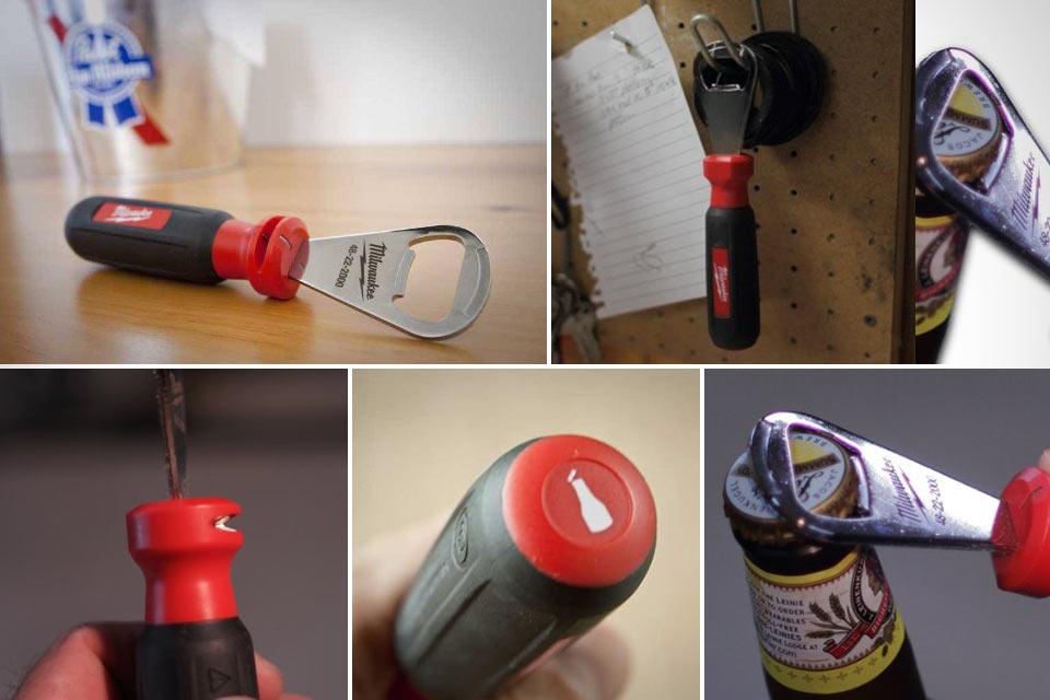 Открывашка Milwaukee Bottle Opener с инструментом для снятия изоляции