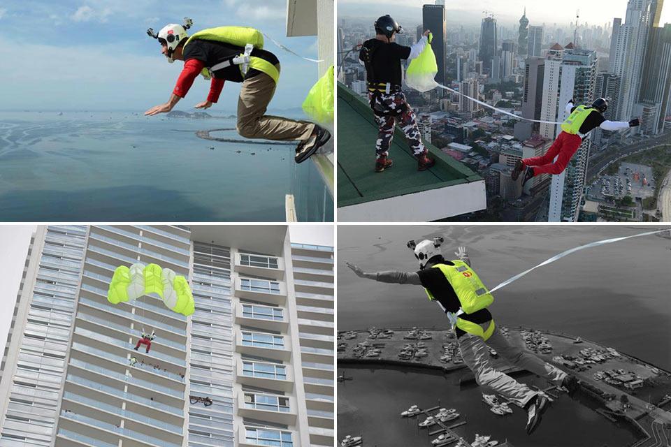 Система быстрой эвакуации из высотного здания SOS Parachute