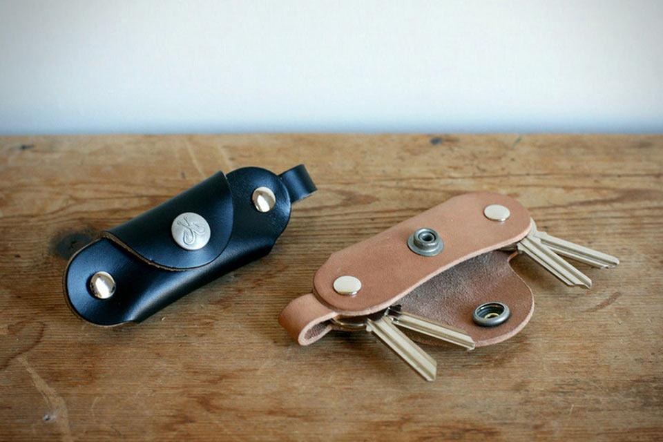 Складной кожаный ключник Snap Key