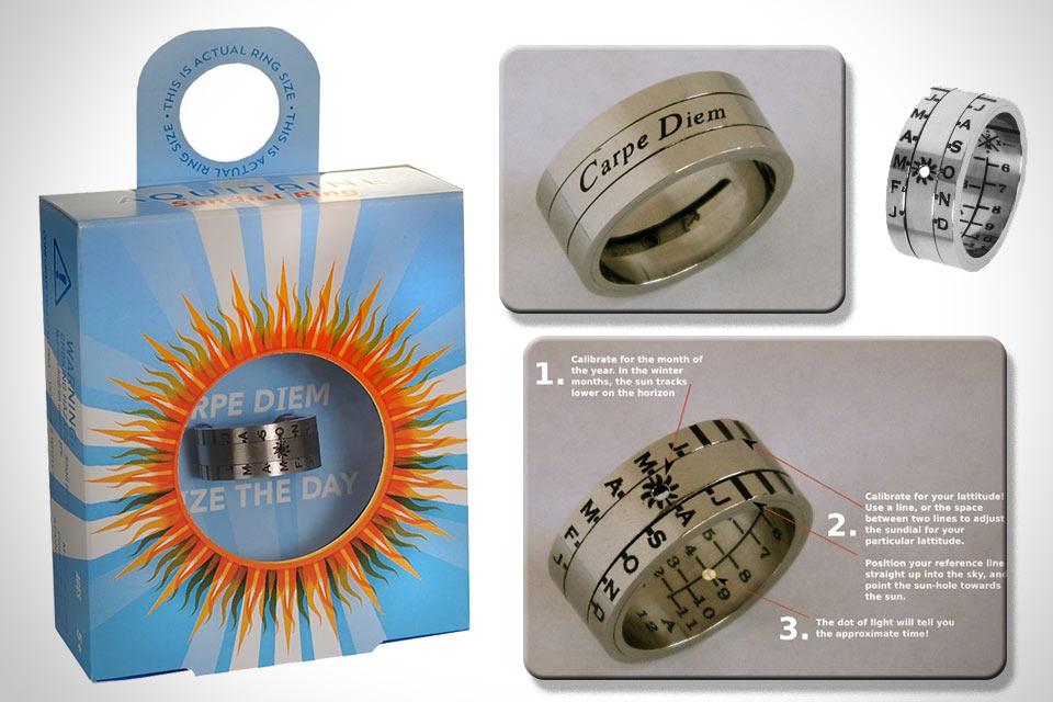 Солнечные часы Sundial Ring в форме кольца
