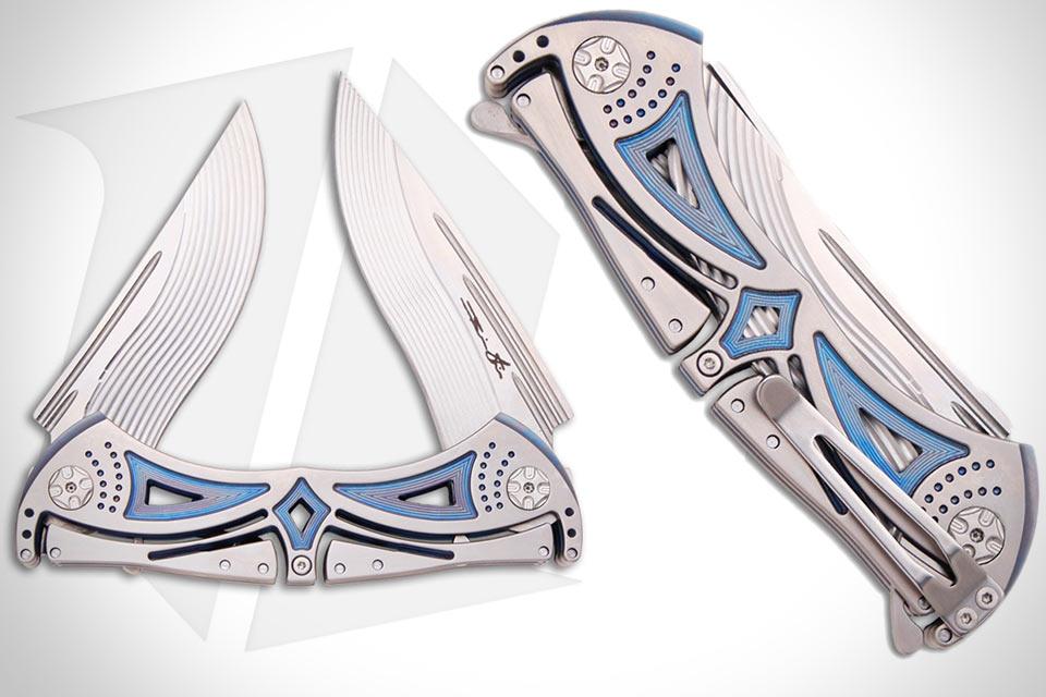 Титановый нож Tighe Dual Blade с двумя лезвиями