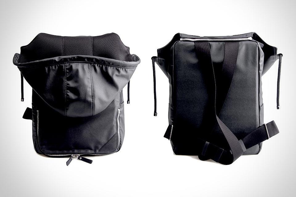 Кожаный рюкзак с капюшоном Hooded Backpack