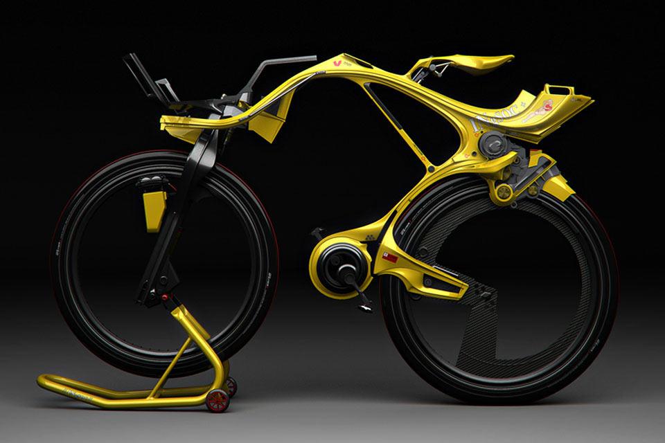 Гибридный велосипед INgSOC без цепи