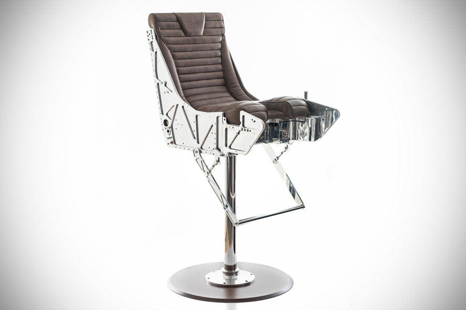 Барный стул Martin Baker MK10 из кресла боевого самолета