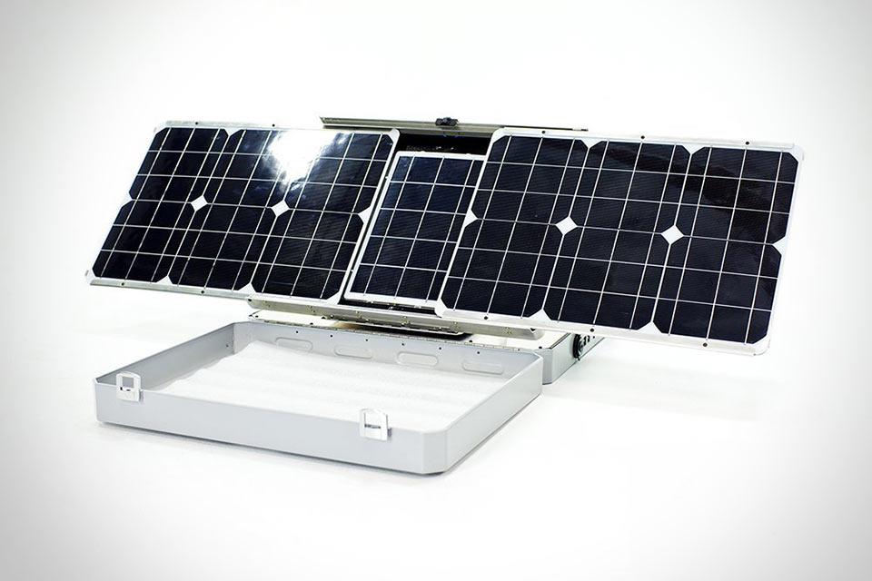 Портативный солнечный электрогенератор SunSocket с функцией слежения за солнцем