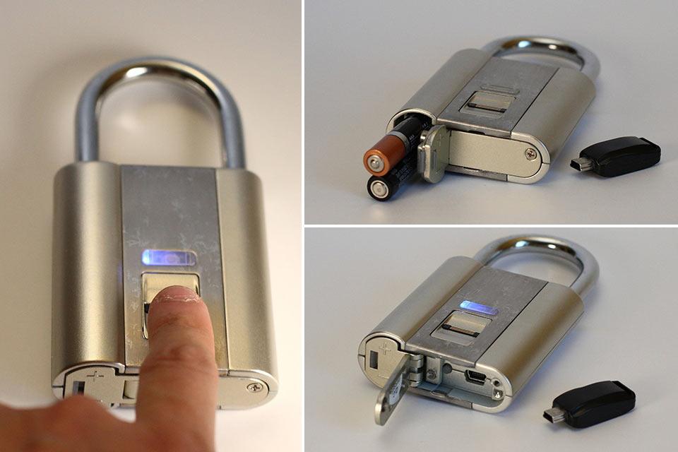 Навесной замок iFingerLock с биометрическим датчиком