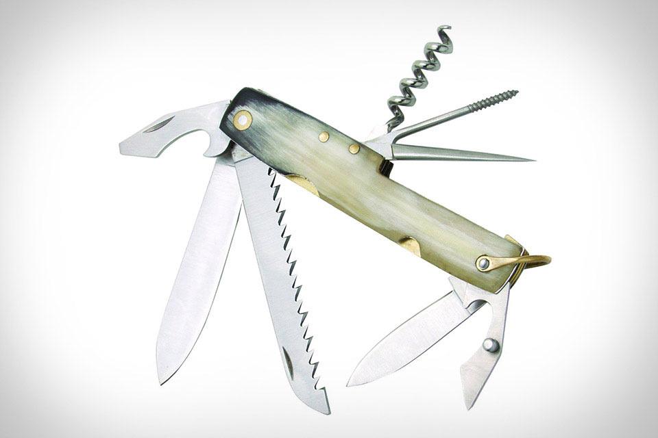 Складной нож Baladeo Le Retro с ручкой из рога