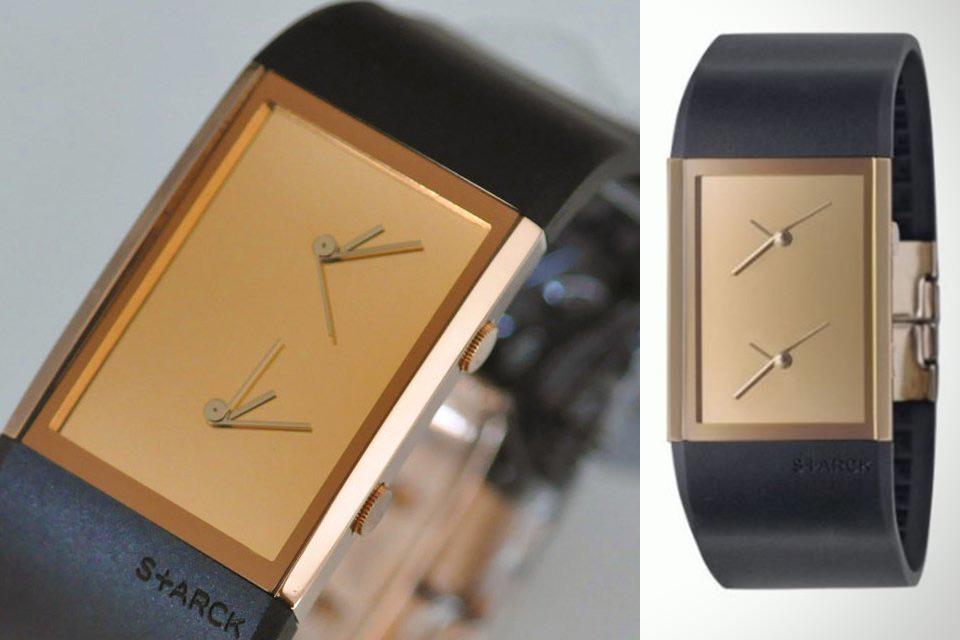 Тонкие наручные часы с двумя механизмами Dual Time Watch от Филиппа Старка