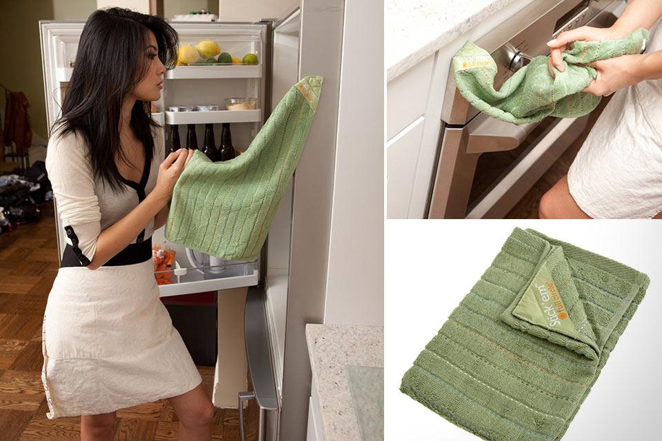 Кухонное полотенце из бамбука Full Circle Stick 'em со встроенным магнитом