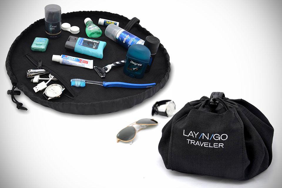 Удобный несессер в форме мешочка Lay-N-Go Traveler