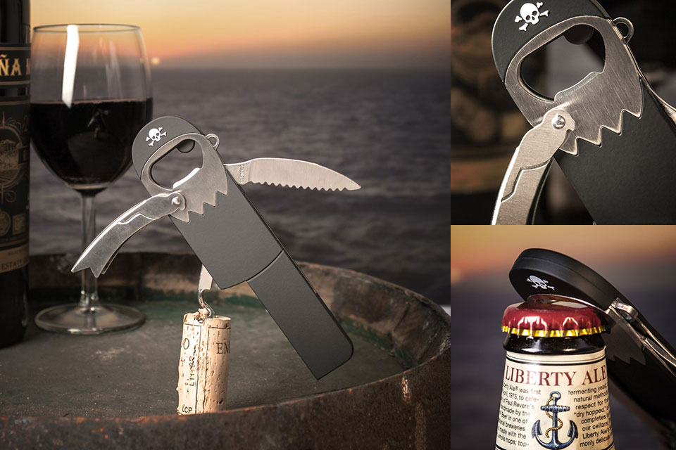 Открывашка-штопор Pirate Corkscrew в форме пирата